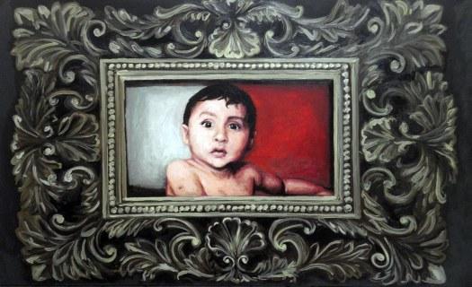 Baby Boom, 2014, vinílica e óleo s/tela, 150x90 cm