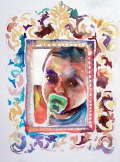 Jogo da Memória, 01, 2014 - aquarela s/ papel, 40x60 cm