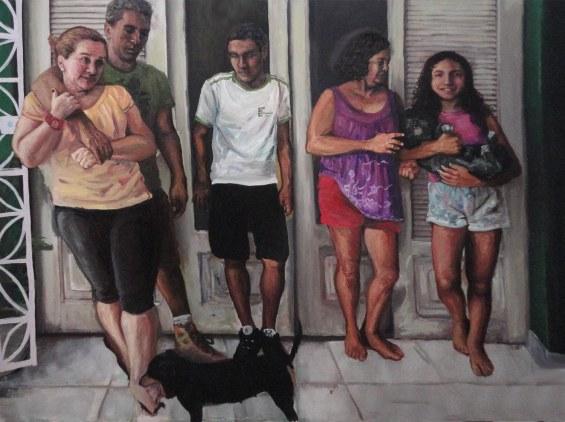 O bocejo de Tereza Cristina, 2014, vinílica e óleo s/tela, díptico, 180x240 cm