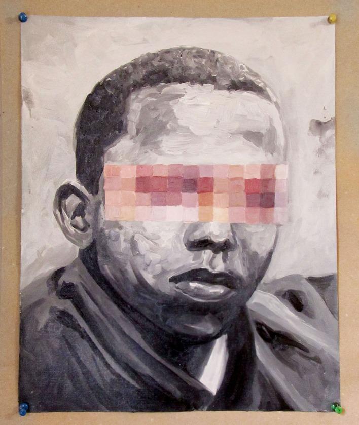 La mirada assustada 04 40x 32 cm, 2018 – óleo sobre papel