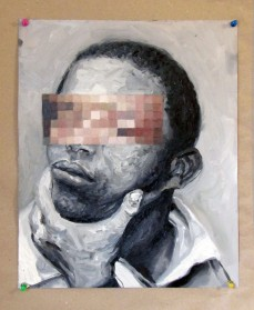 La mirada assustada 05 40x 32 cm, 2018 – óleo sobre papel