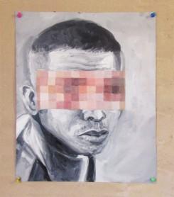 La mirada assustada 01 40x 32 cm, 2018 – óleo sobre papel