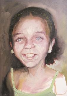 criança desaparecida 03, oleo sobre papel, 31x41 cm, 2018
