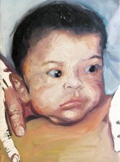 criança desaparecida 04, oleo sobre papel, 31x41 cm, 2018