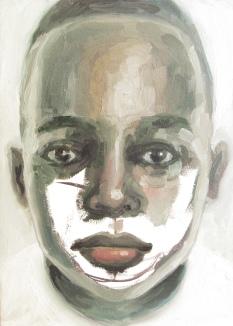 criança desaparecida 05, oleo sobre papel, 31x41 cm, 2018
