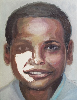 criança desaparecida 08, oleo sobre papel, 31x41 cm, 2018