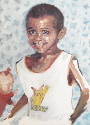 criança desaparecida 09, oleo sobre papel, 31x41 cm, 2018