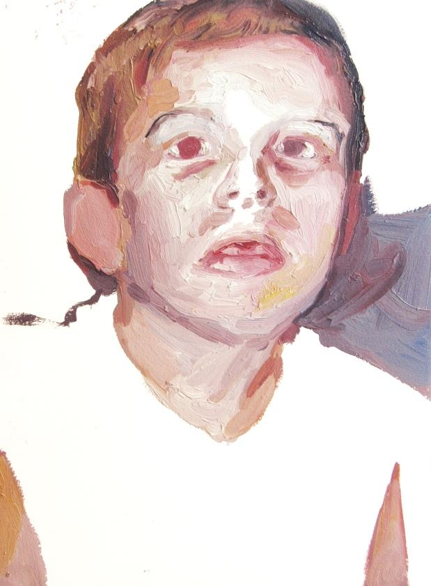 criança desaparecida 10, oleo sobre papel, 31x41 cm, 2018